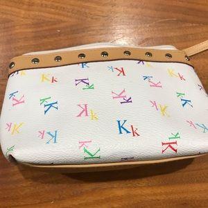 """Mini initial """"K"""" make up bag"""